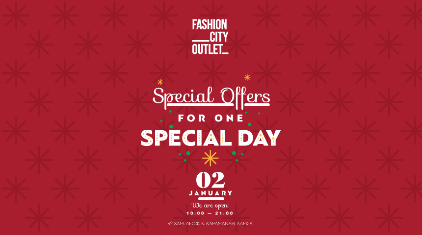 SPECIAL CELEBRATION OFFERS DAY